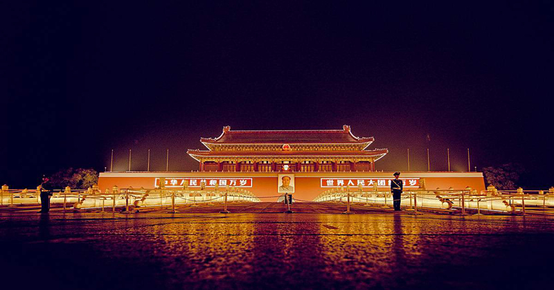 taxi to tiananmen square night scene, car rental with english driver, cab
